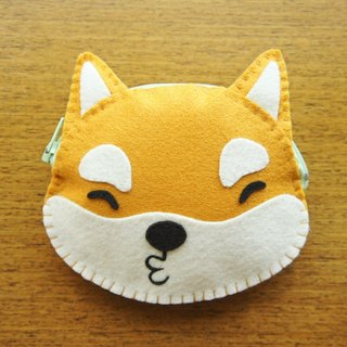 [Mangogirl] Department of super warm. Shiba hand-made zipper purse fox brown