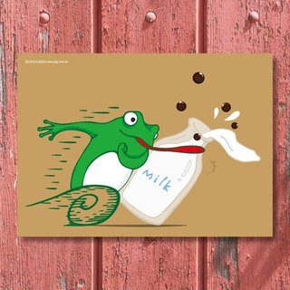 Jiang Tong ‧ Taiwan still good sipping series Postcards - frog into milk