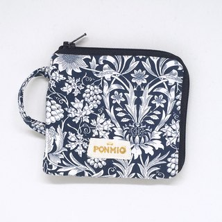 Dark blue flowers purse