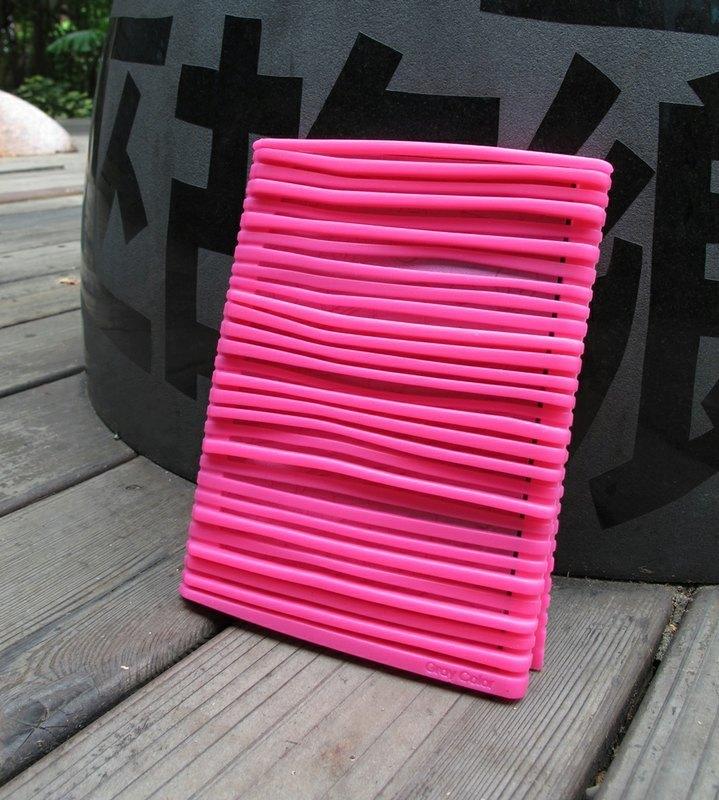 《灰設素GrayColor》蜜桃紅Q Note - 矽膠筆記本