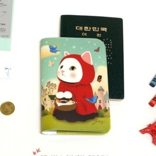 Jetoy, Choo choo cat sweet cat housed Passport Case _Red hood (J1502101)