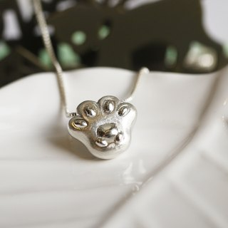 Handmade 925 sterling silver [cat cat meat ball necklace cat necklace] each cat has a bear