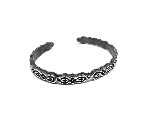 · Celtic silver retro bracelet | Celtic (customizable alphabet)