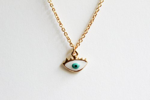 Necklace green eyes