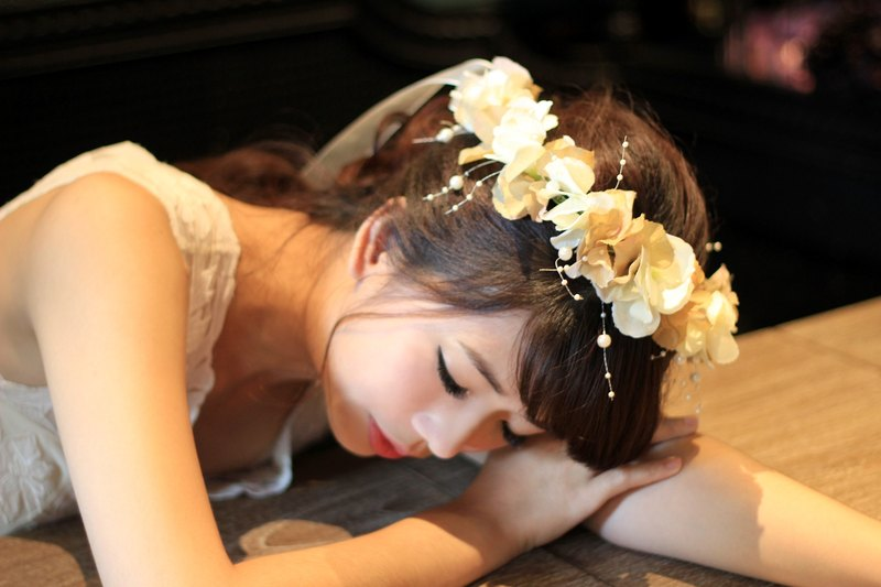 Artificial flowers bridal crown [series] my feelings elegant models