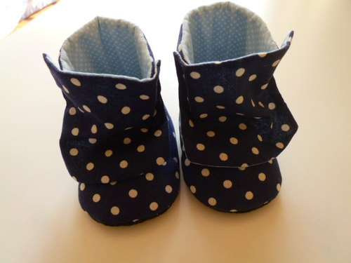 Little blue cloth boots baby boots baby shoes births gift