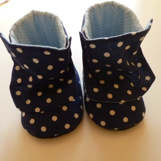 Blue bottom little baby boots cloth boots baby shoes moon gift