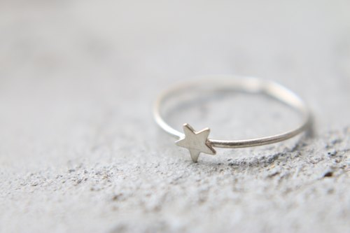 Silver ring 0386 little star