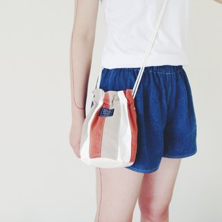 :::Bangstree:: Shoulder Bucket Bag -Brown+White+LightGray