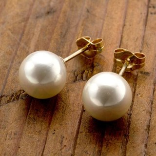 [Pierce] good simple usability of the pearl shell + 14KGF earrings / DollPr01