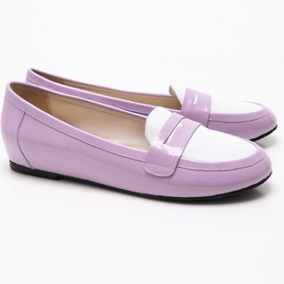 [Saint Landry] LAND patent leather stitching design flats (purple)