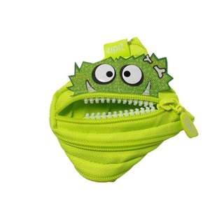 (5 fold out of clearance) -Zipit Talking dialogue monster zipper bag - (small) fluorescent green