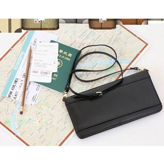 Organized Travel- formula passport shoulder bag (fashion black)
