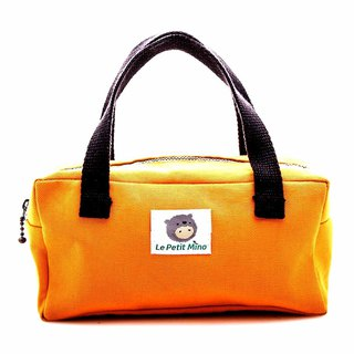 Beauty Handbag Without Inner Bag Pocket Small Rectangular Purple Orange