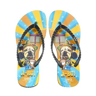 QWQ Creative Design Flip-Flops (No Drills)-A Bui-Coffee [STN0341507]