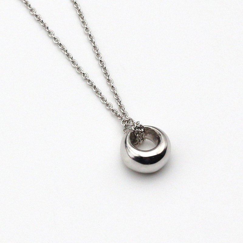 Last quarter moon ( Small ) Silver Necklace