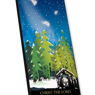 Christmas tree Christmas light music card card