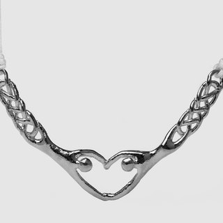 [STUDIO MANGO] 2gether aluminum plating handmade necklace (silver)