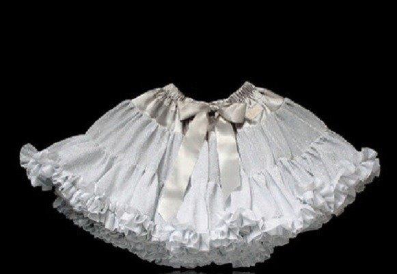 Dolly  GLITTER PETTISKIRT silver 銀色澎裙