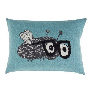 Fabulous Goose lovely home pillow Wool series - flies pillow (AQUA BLUE)