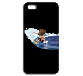 BEAR SURFING (iPhone5 / 5s black case)