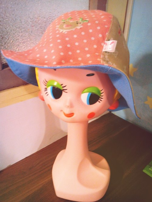 Dream Carrot small little pink sun hat sided