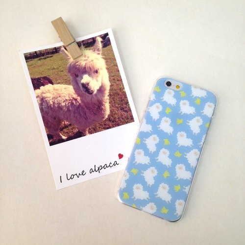 Running Alpaca Blue Banana Pattern Print Soft / Hard Case for iPhone X,  iPhone 8,  iPhone 8 Plus, iPhone 7, iPhone 7 Plus, iphone 6/6S , iphone 6/6S PLUS