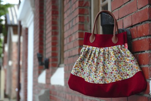 Pu. Leimi Japanese hand-made American fine count cotton + Japan metallic denim - colorful kaleidoscope portable shoulder bag (cloth out of print, limited edition merchandise a)