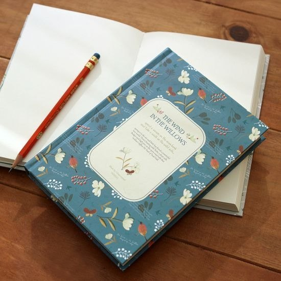 Dessin x indigo- classic fairy tale hardcover blank notebook - Wind in the Willows (blue), IDG04729