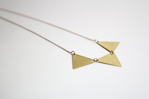 Summer Triangle are simple geometric shapes brass chain clavicle