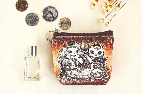 Good meow small purse - aristocratic cat