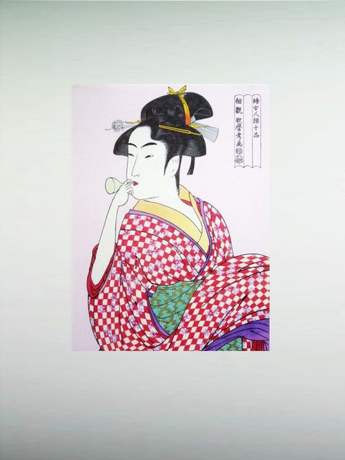 Japanese ukiyo-e paintings non-woven - Song Mo