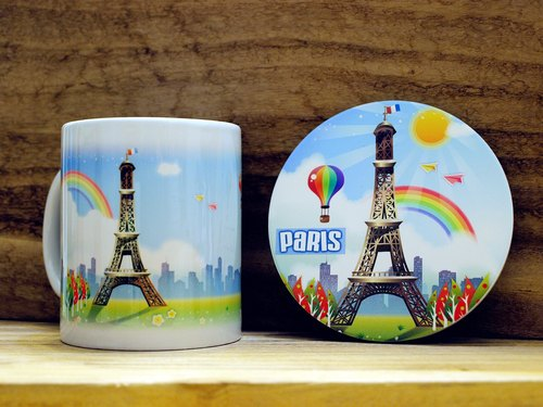"""TAIWAN VIEW‧ Landscape Series"" Eiffel Tower. Mug (straight) - Coaster combination"
