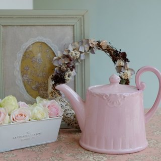 {HighTea retro tea teapot} cherry pink - London import, retro pure British descent -