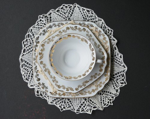 German antique tea cups and saucers Group A