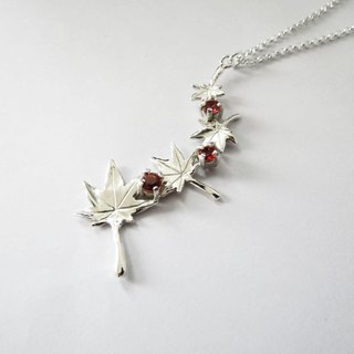 The Maple Leaf series – four leafs (925 sterling silver necklace) - Cpercent handmade jewelry