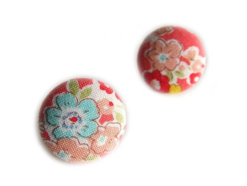 Floral cloth buckle earrings glitter clip-on earrings can do