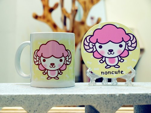 """Noncute‧ Zoo"" Bleater - Pringles baa. Mug (straight) - a combination of coaster"