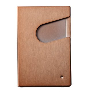 QURLI easily turn card case * Limited copper hair