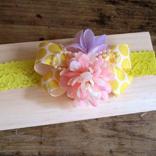 [Pure hand-made] American romantic yarn flower / hair ornaments special baby hat