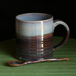 Customized mugs and ceramic spoon # 5001