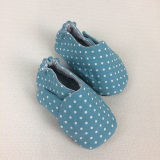 Va handmade children's shoes series of green water canvas shoes