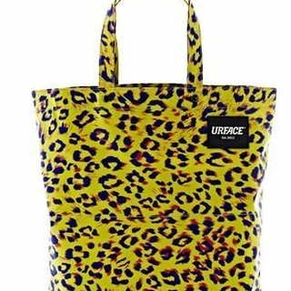 [URFACE] URFACE Original Series / Tualeknutcha yellow leopard Shopping Bag