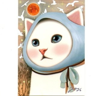 JETOY, sweet cat postcard _Bird (J1407137)