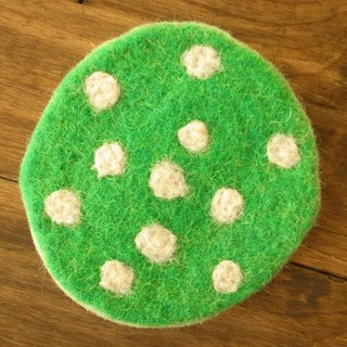 Felt Potholder, Trivet, Pan Coaster, Pot holder, Felt ball Trivet Round Dots