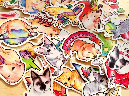 Shiba Inu and his friend stickers I (27pic)