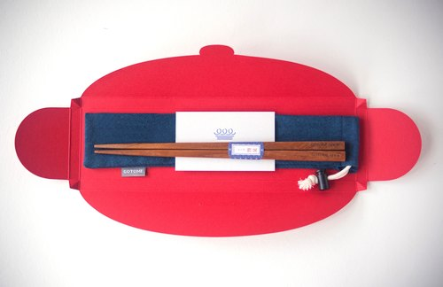 Customized - 箸 福 | Customized lettering + chopsticks + cloth cover + 箸 Fu packaging | Custom exclusive gift