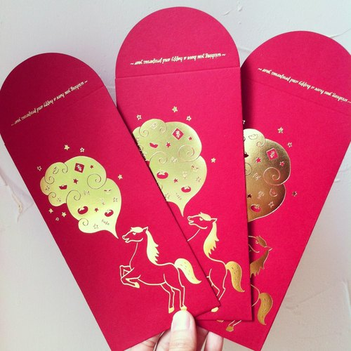 Joy Harvest / Horse ☉ bronzing red envelopes (six in)
