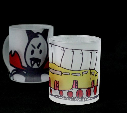 Plus purchase of goods - <Customized> frosted glass mug