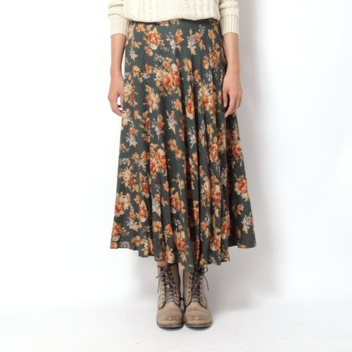 │moderato│ in Japan rose vintage classic retro skirt │ Forest. England. Art youth